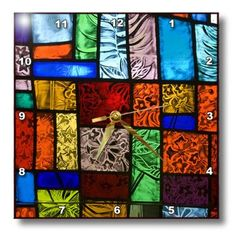 Contemporary Clocks, Modern Clock, Stained Glass, Quilts, Wood, Nature, Art, Art Background, Naturaleza