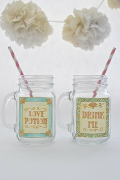 Toasted Glass - Drink Me/Love Potion Drinking Jar