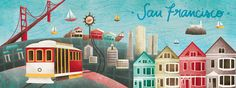 Love this travel illustration website>  San Francisco, California by Mariel Cartin