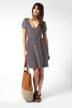 Cambridge Stripe Wrap Dress - Great Plains