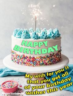 Happy Birthday Wishes Message with Cake