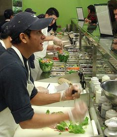 Chop't Creative Salad Company @ various locations in DC area  Delicious fresh salads made right in front of you just the way you want it. A great place for a quick lunch or dinner.