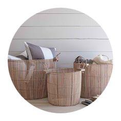 Baskets | washed wood