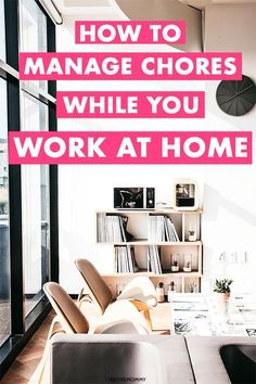 Are you a mom that works from home and has toddlers? Learn to manage chores, keep house tidy with kids and declutter and organize to keep your house clean when working from home. #organization #workfromhome #cleanhome