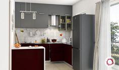 12 Grey Kitchens That Are Drop Dead Gorgeous Small Kitchen Backsplash, One Wall Kitchen, Galley Style Kitchen, Kitchen Layout, Backsplash Tile, Backsplash Ideas, Tile Ideas, Kitchen Ideas, L Shaped Kitchen Designs