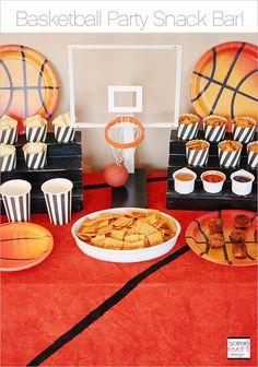 Basketball Party Snack Bar + Cheez-It Meatball Recipe! #MVCheezIt #ad