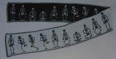 Ravelry: Dancing Skeletons Double Knit Scarf pattern by Frivolite Handcrafts