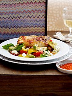 Low Carb Abendessen: Zanderfilet zu Avocado-Salat