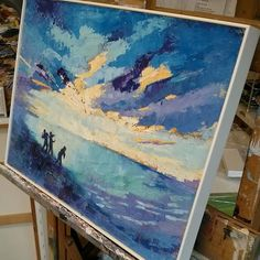 I've been thinking about this one for a while. #seaside #oilpainting #bluepainting