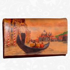 Feature: Venice   Original hand-painted leather wallet. There is only one piece. Each piece is hand-painted work of art products. Wallet is a beautiful unique original painting. http://www.vegalm.sk/