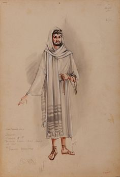 PAIR OF HERSCHEL MCCOY COSTUME SKETCHES FROM THE PRODIGAL