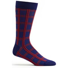 Mens Masaii Plaid Sock