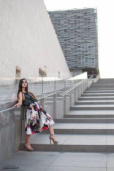 Read here about Julia's Look. http://julialovesart.com/floral-skirt-look-summer/ #giuliaparigi #julialovesart | SHOP ONLINE ON: www.alteregodresstore.com | MAIN SITE: www.alteregodress.com . . .  #fashionblogger #alteregodress #fashion #outfits