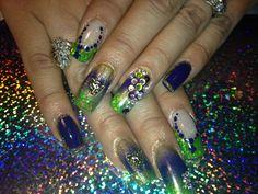 Maid gras nails by Eva