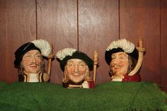 The Three Musketeers, Royal Doulton Toby Mugs $250.00 @ ElvyRuths