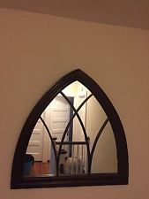 Stone gothic arched mirror church window wall outdoor for Church style mirrors