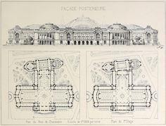 Design proposal for the Grand Palais, Paris Architecture Mapping, Architecture Drawings, Historical Architecture, Architecture Plan, Urban Design Plan, Building Drawing, Layout Design, Maps, Proposal