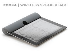 Wireless Bluetooth Speaker Bar. ZOOKA. For iPad.
