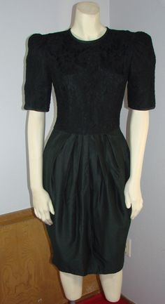 Vintage 80s Cocktail Dress Positively Ellen by TheScarletMonkey