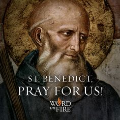 St. Benedict, patron of people in religious orders & against temptations, pray for us!  #Catholic #Pray #StBenedict