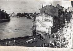Verona - Resti della casa caduta nell'agosto del 1934 per le piogge