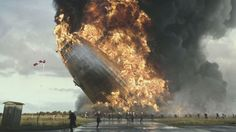 Hindenburg disaster that occurred on May 6, 1937, New Jersey, United States (colourized)