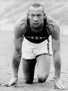 Jesse Owens | In 1936, Hitler hosted the Olympics in Berlin, intending for them to be a showcase of Aryan supremacy. American Jesse Owens shattered that goal when he won four gold medals in track & field.
