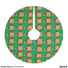 Sandy Claws Brushed Polyester Tree Skirt