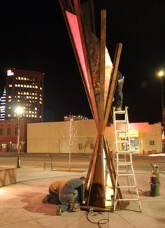 Industrial Revelations: New Public Art Sculpture Installed tonight in Downtown Boise!