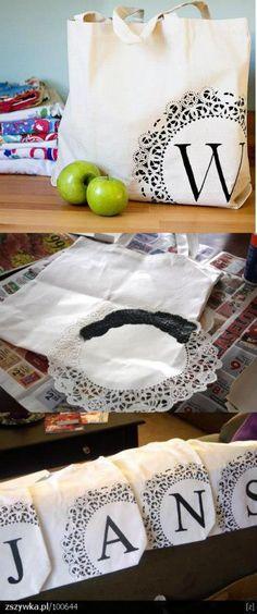Toalhinhas rendadas de plástico viram formas para silk!