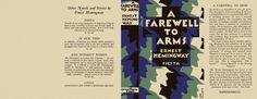Farewell to Arms, A. Ernest Hemingway. Dust jacket