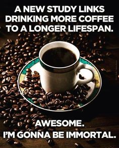Yes...that's an awesome reason to drink it, but that's not why I drink it;)