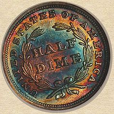 1838 Seated Liberty Half Dime reverse