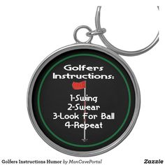 Golfers Instructions Humor Keychain Golfers, Custom Buttons, Keep It Cleaner, I Shop, Cool Designs, Golf Accessories, Humor, Key Chains, Cool Stuff