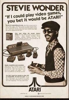 Si pudiera... Stevie Wonder haciendo publicidad de Atari... mmm