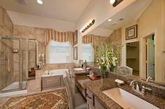 Traditional master bath w/ tons of style! #chesmarhomes The Lorena Plan in Houston, TX. #masterbathroom