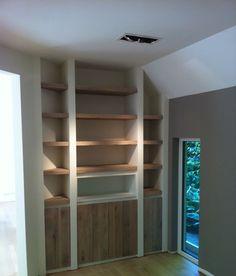 mooie combinatie wit & hout voor boekenkast