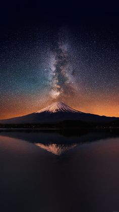 awesome wallpaper-milky-way-on-mountain-fuji-sky-iphone6-plus-wallpaper