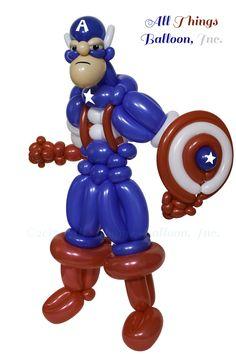 Captain America - in latex