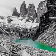 Torres del paine, Torres del Paine, Chile — by TheTwoHobos. The highlight of our 6 days hike in the Torres del Paine National Park! #mountains #hiking #cliffs #torresdelpaine...