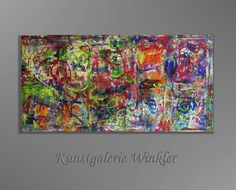 Gemälde Abstrakt Deko Acrylbilder Leinwand Unikat  von Kunstgalerie Winkler auf DaWanda.com
