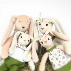 INSTANT DOWNLOAD Bunny Family PDF Pattern and Sewing Instructions, Stuffed Toy Plush Rabbit Bunny Doll Clothes Pattern
