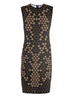 alexander mcqueen AM-E-321744-QY385 dresses BEIGE BLACK