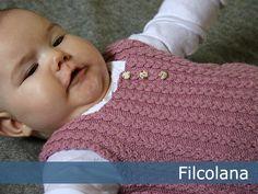 Strikke babyvest gratis PDF mønster