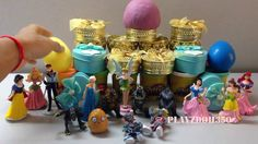 PlayzDoh and Toys Surprise Eggs Videos for Kids | Disney Princess Snow W...