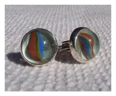 Marble Cuff Links Sterling Silver by BlackStarSA on Etsy, $80.00