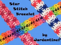 New Star Stitch Bracelet - Rubber Band Crochet - Rainbow Loom - Hook Only - YouTube