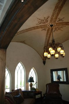 Beautiful ceiling for the music room.