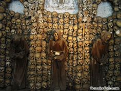 CATACOMBS OF ROME - Mazes of underground tunnels were used to bury thousands of bodies and some of them are open to the public for tours. • Catacombe di San Callisto  • Catacombe di San Domitilla •  Catacombe di San Sebastiano.