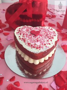 Part of our Valentines Collection 2018. Red velvet heart cake